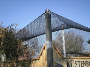 Sicherungsnetz für Volieren - Hier Heidelberger Zoo