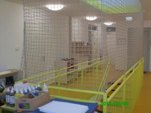Treppenhaussicherung mit Netz